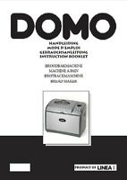 Domo Bread Machine Manual B3975, B3980, B3985, B3990, Do2625cb