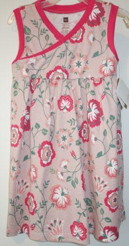 Brand New Tea Collection Peach Blush Via Sannio Wrap Neck Dress Girl/'s Size 2