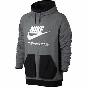 wholesale outlet super cute meet Details about Men's NIKE International Pull Over Hoodie Grey/Black/White  Japan 831132 091