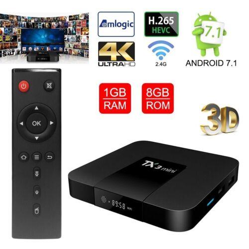 TX3 mini 2GB+16GB S905W Quad Core Android 7.1 TV BOX 2.4GHz WiFi 4K HD 3D Media