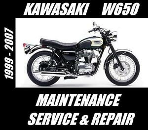 Kawasaki-W650-W-650-Workshop-Maintenance-Service-Repair-Manual-1999-2007