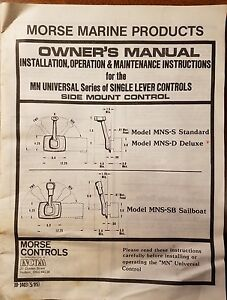 morse marine mn universal series side mount control installation rh ebay com Morse Throttle Control Parts Vintage Morse Control Parts