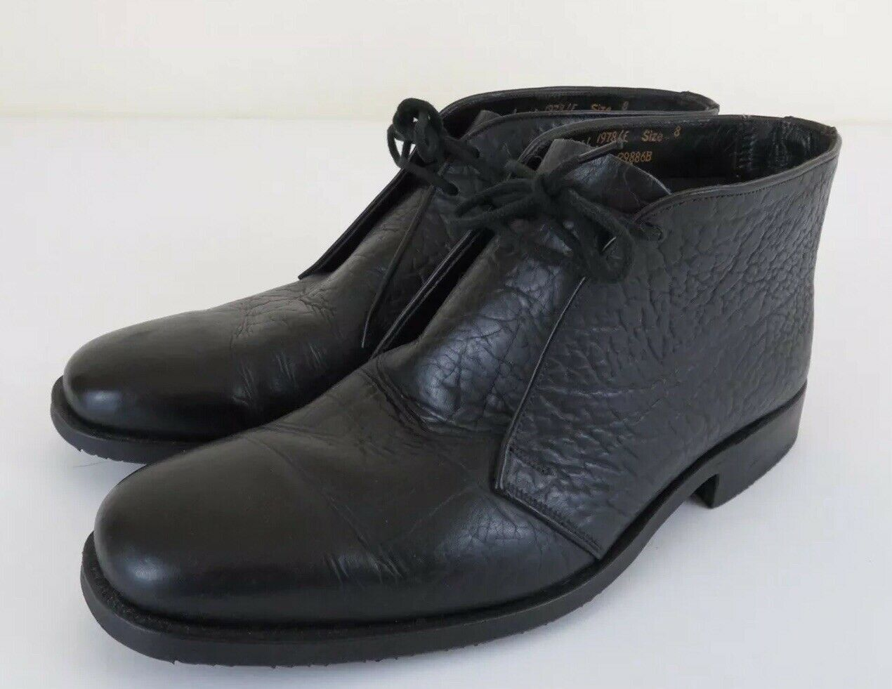 Royal Tweed Cheaney X Church's Mens Size 8 E Black Leather Chukka Ankle Boots