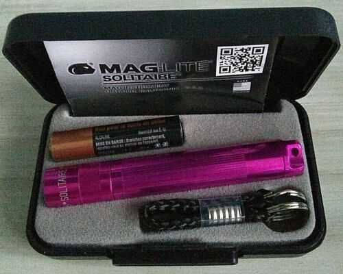 Maglite Flashlight Incandescent Solitaire AAA Pink in Pres Box /& Battery K3AKY2