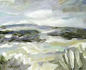 Yorkshire-Moors-ORIGINAL-ACRYLIC-LANDSCAPE-PAINTING-Windswept-Sky-Steve-Greaves