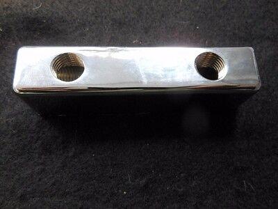FUEL BLOCK 2 x 2  CHROME FB-2x2-2 HOT ROD FLATHEAD STROMBERG 97 HOLLEY 94