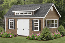 AMISH BUILT 12x20 A-FRAME STORAGE SHED LAP SIDING WITH GARDEN ELITE PACKAGE