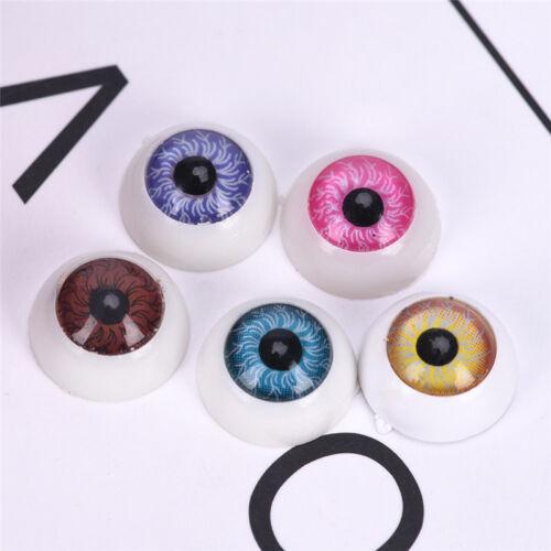 5 Pair Plastic Half Round For Halloween Mask Doll Eyes Fake Mask Eyeballs YL