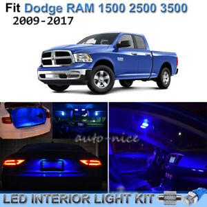 For 2009 2017 Dodge Ram 1500 2500 3500 Brilliant Blue Led Interior Lights Kit 8x Ebay