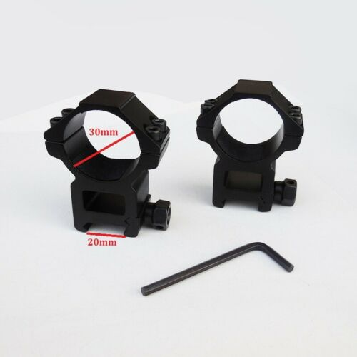 2pc Hunting Tactical Riflescope Scope Mount 25.4mm 30mm Rings 11mm 22mm Rail