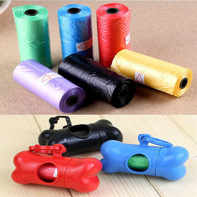 50 Rolls Portable 1000 Dog Pet Waste Poop Poo Refill Core Pick Up Clean-Up Bags