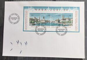 NABA Zürich 1984 - schöner Block auf FDC Couvert