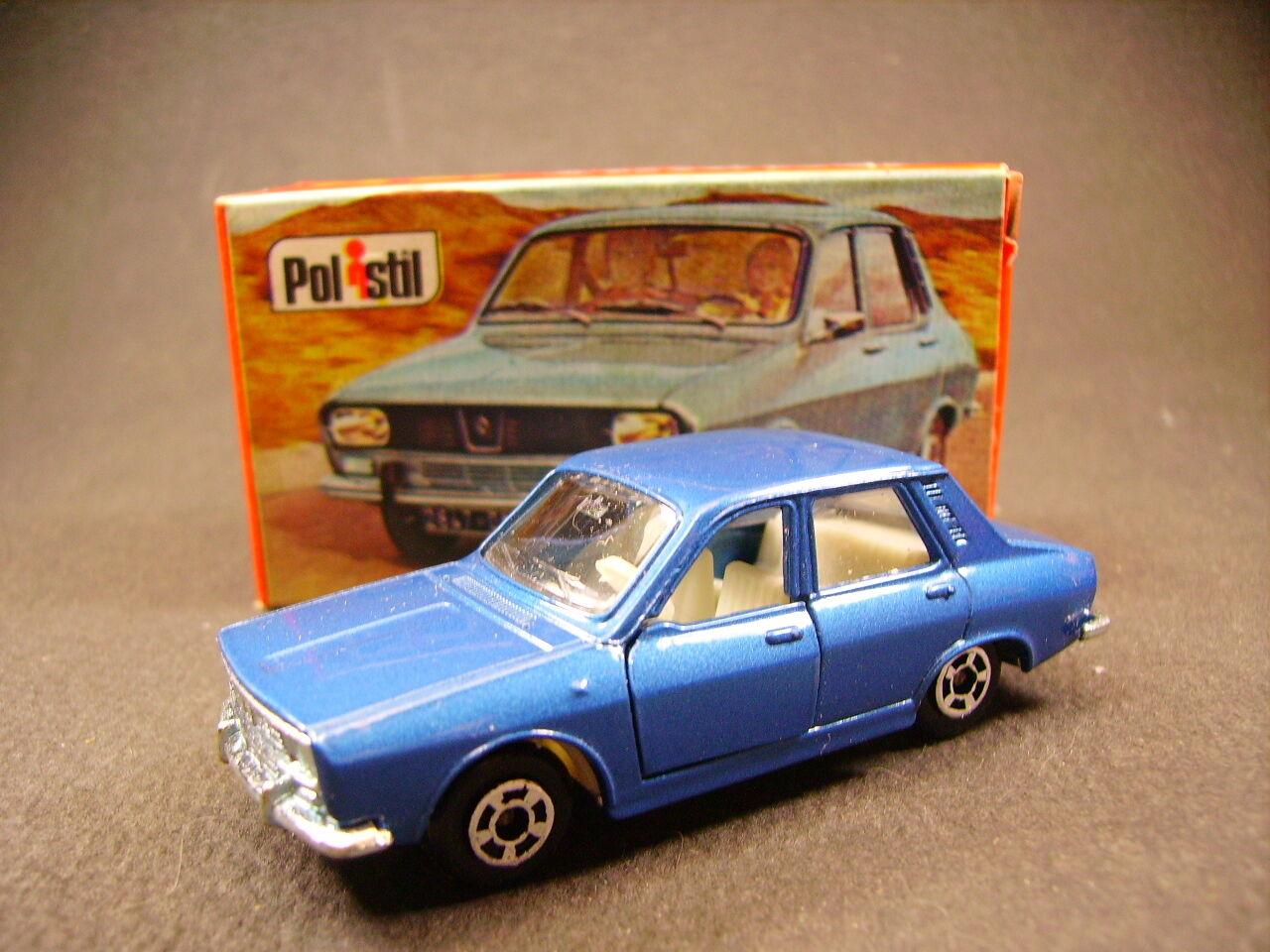 Polistil Renault 12 TL  Club 33 PoliJuguetes  (Estilo Majorette) + Caja