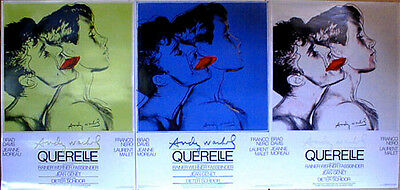 ANDY WARHOL - Querelle Set of 3 Green Blue Grey ORIGINAL 1982 FILM POSTERS Print