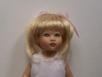 PEACH BLONDE Made For Helen Kish Riley Doll Light WIG Destiny LT Debs