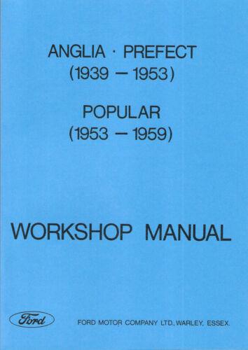 Service & Repair Manuals Ford Anglia Prefect Popular E93A E83W ...