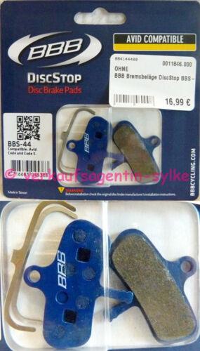 Bremsbeläge DiscStop BBS-44 f BBB Fahrrad Scheibenbremsbeläge Avid Code//Code 5