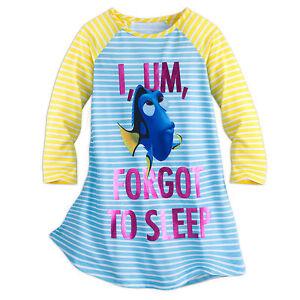 Disney-Store-Pixar-Finding-Dory-NightGown-Nightshirt-PJ-039-s-Girls-4-5-6-7-8-New