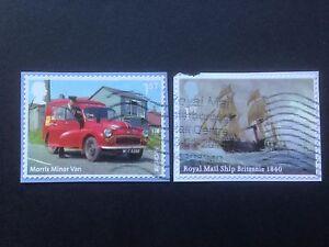 Great-Britain-2013-Royal-Mail-Transport-Self-Adhesive-Die-Cut-2-values-used