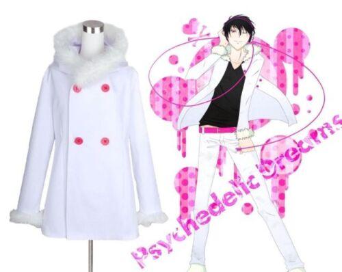 Durarara Izaya Orihara Cosplay Costume White Coat Uniform Halloween