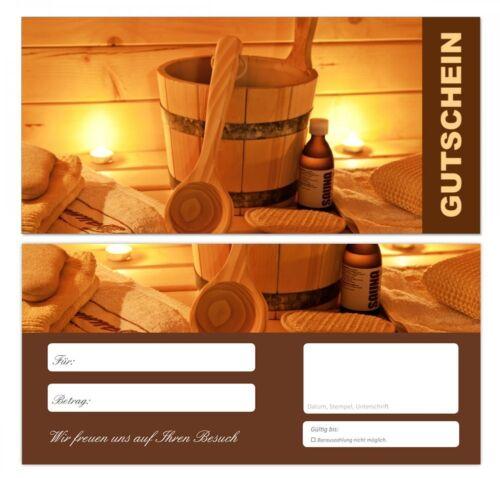 Gastronomie Gutscheine sehr stark 100 x Premium Geschenkgutscheine Wellness673