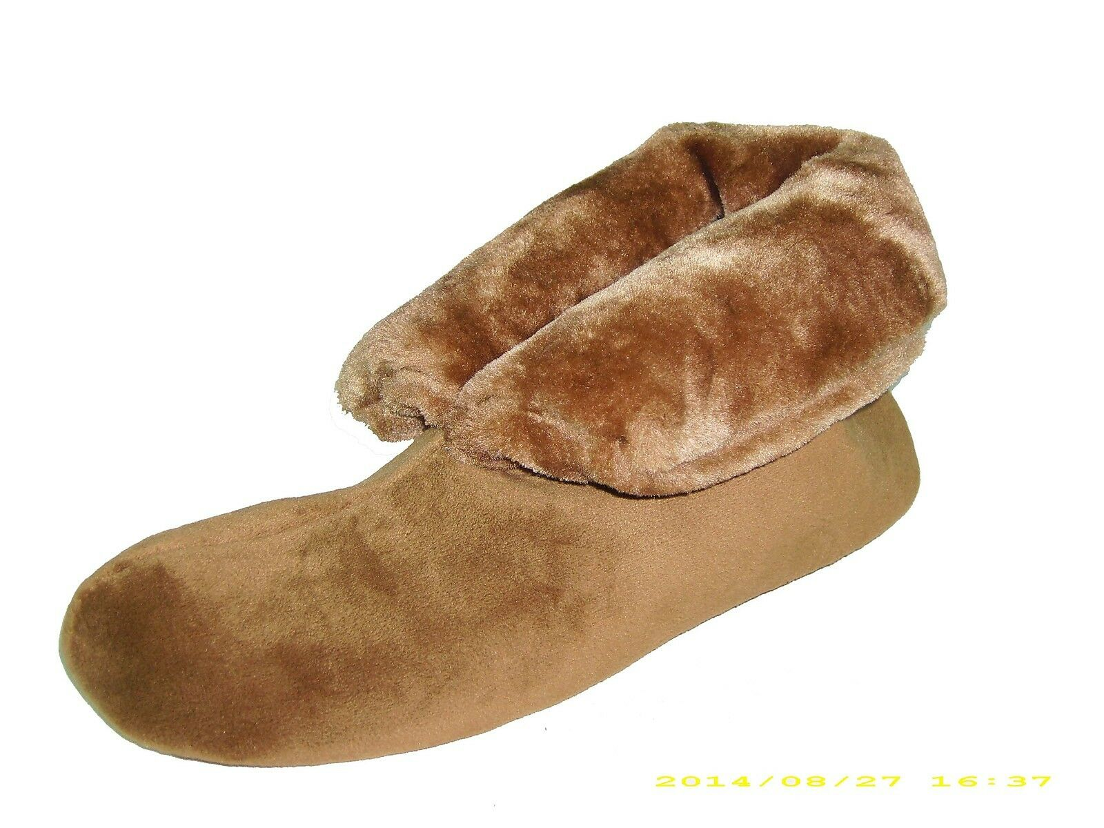 Charter Club Women's Micro-Velour Faux Fur Slippers - Lt (5-6) Brown - Sz Small (5-6) Lt 5f09af