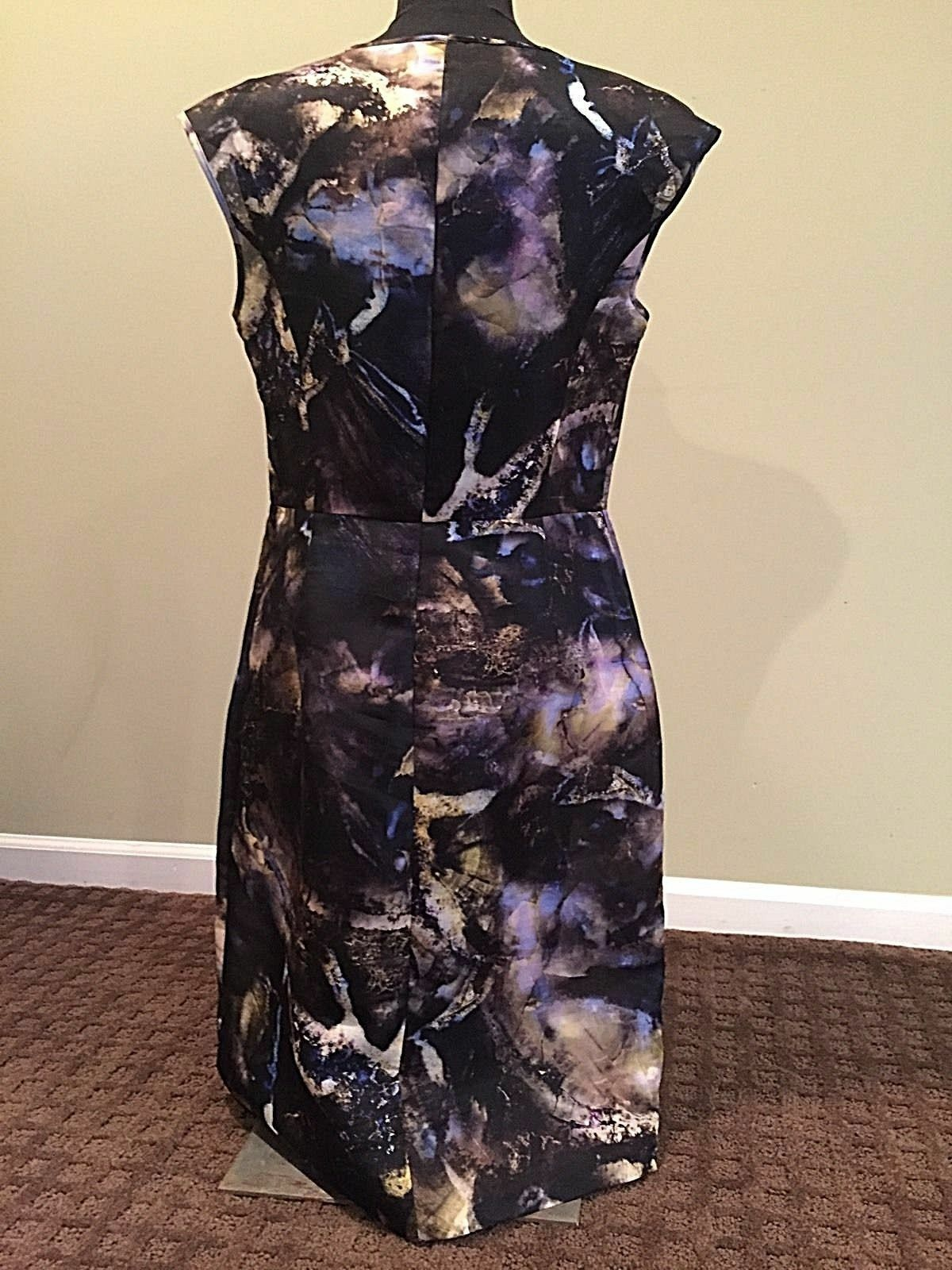 NEW PIAZZA SEMPIONE bluee Marble Marble Marble 100% Silk Dress Size 46 US Size 12 @ Saks  1050 e35f04