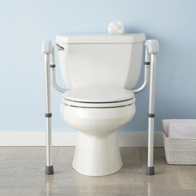 b49ff8d8656 Adjustable Toilet Safety Frame Rail 375lbs Grab Bar Support for Elderly  Handicap