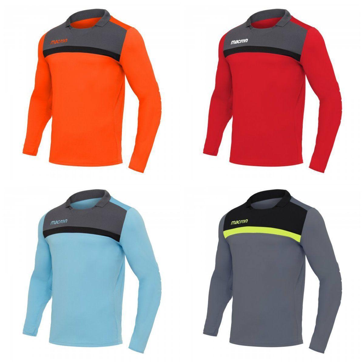 FOOTBALL GOALKEEPER SHIRT FEO - MACRON - Long Sleeves - Sizes from 3XS to 3XL