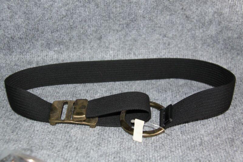 Ausgefallener Stoff GÜrtel Schwarz Vintage Optik GrÖsse 85 Breite 3,8 Cm Mangelware