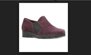 Monarch Shoes 5 On Suede da Clarks Slip Artisan donna 8 Daelyn Aubergine fCqpIYw