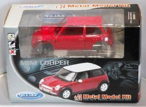 Image Is Loading Mini Cooper Metal Model Kit Red 1 24