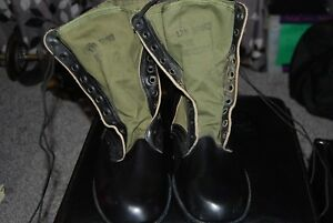 1960S-BATA-VIETNAM-SPIKE-PROTECTIVE-COMBAT-GREEN-JUNGLE-BOOTS-13-N-HOT-WEATHER