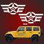 Indexbild 1 - 2 57cm US Army Sterne RETRO Sterne Auto Aufkleber Jeep USAF jeep USA Army 4x4