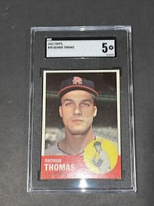 1963 Topps #98 George Thomas SGC 5 Newly Graded & Labelled
