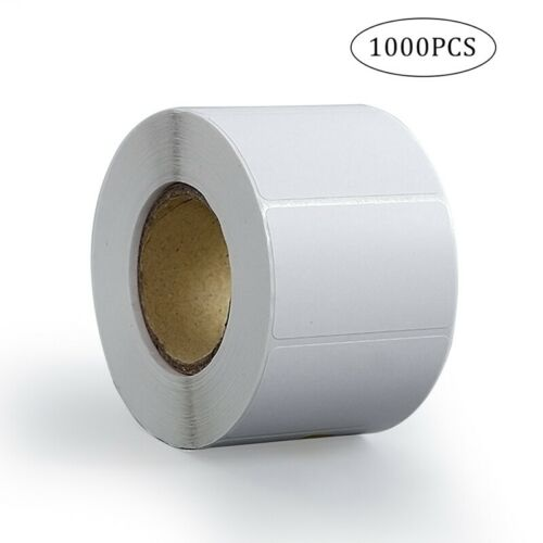 1000 Pcs Adhesive Address Labels Blank Roll 60*40mm Office White Sticky Stickers