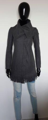Mantel Frau Pinko Winter Single Breasted Überqueren 100% Wolle Vergine Größe 40