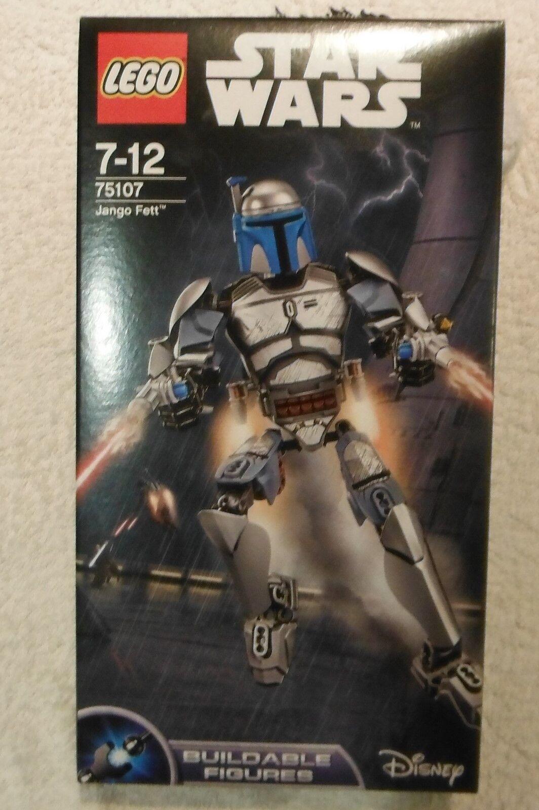 Star Wars Lego Jango Fett 75107 Rare Retired Buildable Figure Set Brand New