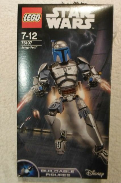 Star Wars Lego Jango Fett 75107 Rare Retired Buildable Figure Set Brand New