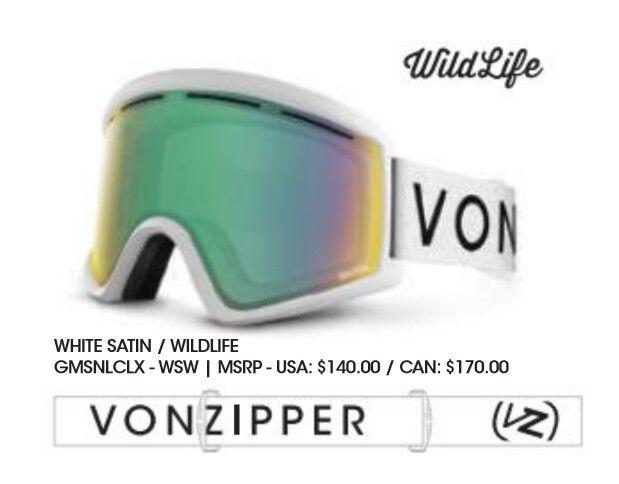 NEW VonZipper Cleaver IT  White Wildlife Mens Snowboard Goggles +lens Ret 140  high quality