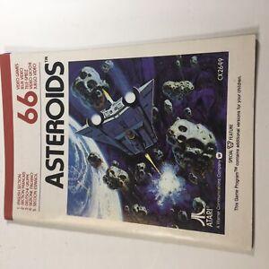 Asteroids Atari 2600 MANUAL ONLY