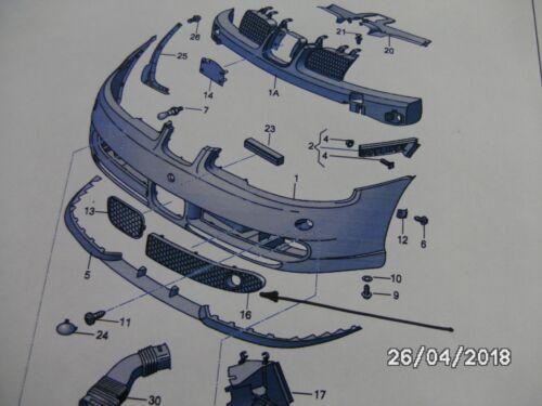 NEW GENUINE SEAT LEON CUPRA Mk1 2000-2006 LEFT LOWER AIR GRILLE 1M6853665B 79Y