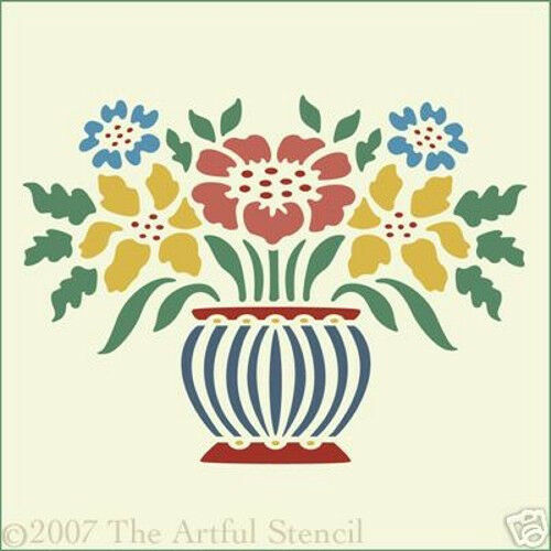 COUNTRY COTTAGE FLOWERS STENCIL The Artful Stencil