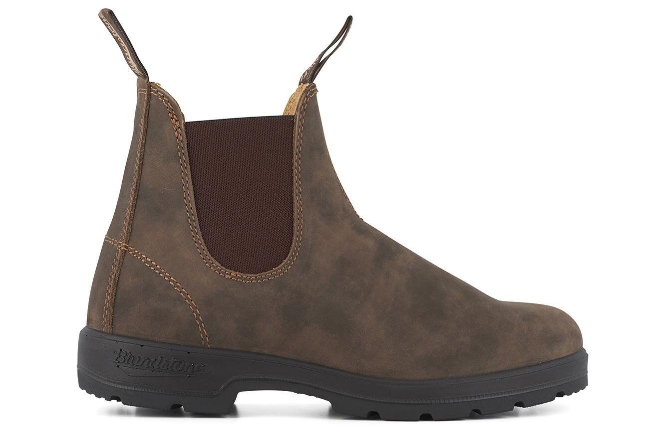 Blundstone 585 Rustic Braun Premium Leder Classic Chelsea Stiefel Australia
