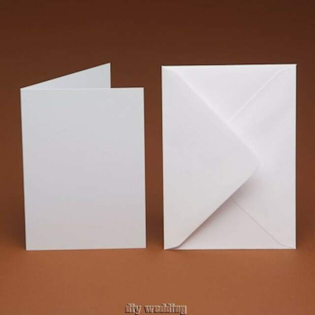 Card Making CraftsCard Making Blanks 50 White A6 Cards and Envelopes