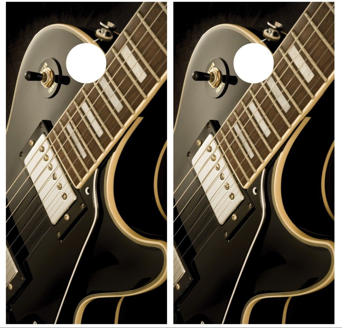 Electric Guitar Music Cornhole Board Decal Wrap Wraps