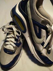 Hacer un muñeco de nieve Mesa final medio  Nike 343904-141 Women's Air Max Skyline Blue White Yellow Running Shoes Sz  7.5 | eBay
