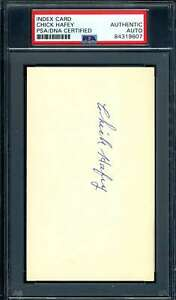 Chick Hafey PSA DNA Coa Autograph Hand Signed 3x5 Index Card