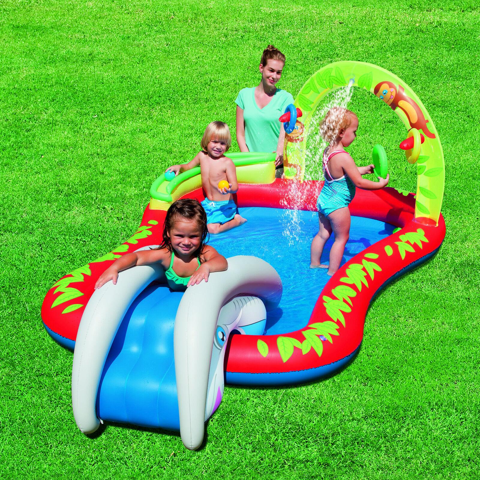 Bestway Spielpool Wassersprüher Rutsche Planschbecken Kinderpool Swimming Pool
