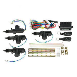 4-2-Door-Power-Central-Lock-Kit-w-2-Keyless-Entry-Car-Remote-Control-Conversion